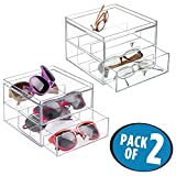 Best MetroDecor Eyeglasses - mDesign 2 pc. Set Stackable Eyeglass Organizer Holder Review