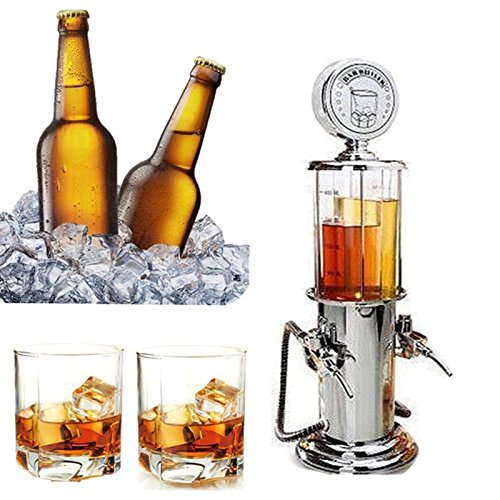 SODIAL Vino Gasolinera Coctel Dispensador Bebidas Bebidas cerveza hine Bombas dobles Dispensador de licor