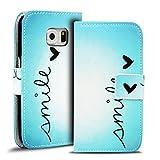 Verco Handyhülle Galaxy S6 Edge Plus Muster, Motiv Hülle für Samsung Galaxy S6 Edge Plus Book Case Flip Cover - Design 12