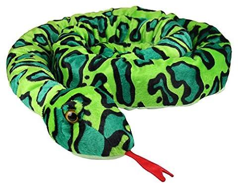 XXL Schlange super weich 254 cm Plüschtier Kuscheltier Stofftier Plüsch Boa Cobra Python Anakonda Spielzeug auch als Zugluftstopper geeignet - grün