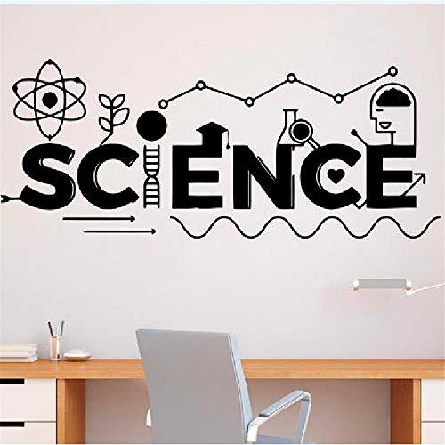 wissenschaft schule bildung klassenzimmer innenwand vinyl aufkleber wohnkultur wandbilder 139X57 CM ()