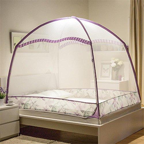 HOME UK- Zanzariere crittografia aumentando cerniera staffa (1,5 m (5 piedi) letto) ( colore : Viola )