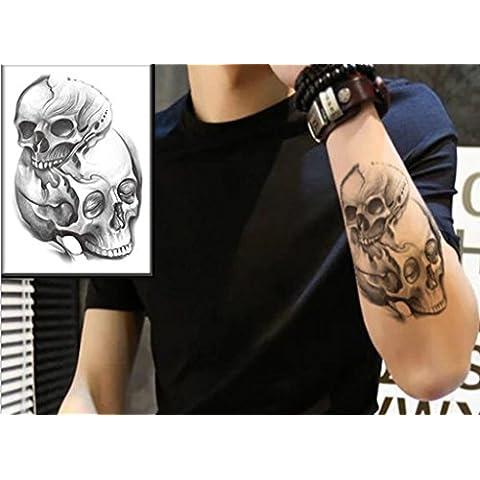GYMNLJY Adesivi tatuaggio Tatuaggi temporanei impermeabili di Halloween moda tatuaggio corpo estraibile Art Sticker (foglio 3 Pack) , 170*120mm