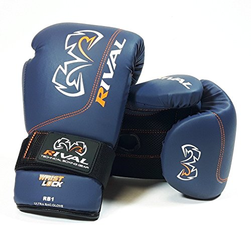 RIVAL RB1-BLUE ULTRA BOXING BAG GLOVES