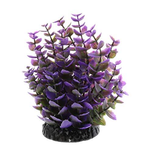 Homyl Künstliche Pflanze Kunststoffpflanzen Aquarium Terrarium Dekoration, Lila -