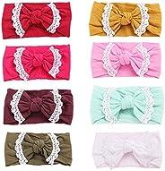 GUIFIER 8 Piezas Diademas para Niñas Bebés con Arcos Bandas para el Cabello de Nylon Vendas bebe Vinchas para