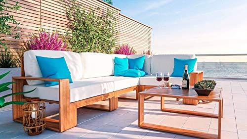 ARTELIA Mauritio Holz Loungemöbel - Gartenmöbel-Set für Garten, Wintergarten und Balkon, Terrassenmöbel Sitzgruppe, Natur Arkazie