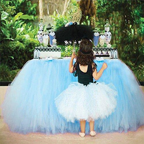 36in × 31in azul cielo Tulle tutu tabla falda, mesa de gasa...
