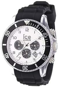 Ice-Watch - CH.BK.B.S.09 - Montre Mixte - Quartz Analogique - Chronomètre - Bracelet Silicone Noir