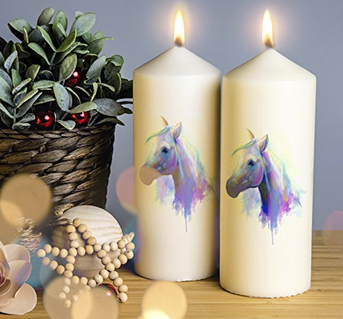 Unicorn Candle Gift  2 sizes Personalised Hand Made Photo Picture