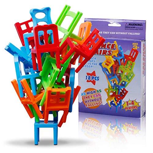 Fcostume Familien Brettspiel Kinder Pädagogisches Spielzeug Balance Stacking Stühle Office Spiel (As Shown)