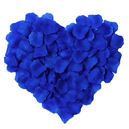 Siero 1000Pcs Künstliche Seide Rosenblätter Dekoration für Hochzeit & Brautschmuck Events Flower Girl Basket Königsblau (Royal Blue-baby-dusche Dekorationen)