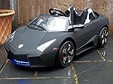 Kids 2 Seater Lamborghini Style Sports Car with Remote Control 12v Electric / Battery Ride on Car - Matt Black Lambo