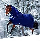Horseware Amigo Bravo 12 - Winterdecke oder Regendecke 155cm 100g Füllung navy/navy & electric blue