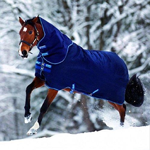 Horseware Amigo Bravo 12 - Winterdecke oder Regendecke 140cm 100g Füllung navy/navy & electric blue