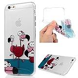 Lanveni iphone6 plus Coque Housse Phone Case de Protection Lumineuse en TPU Silicone Soft Souple Flexible Dessin Coloré - Flamant...