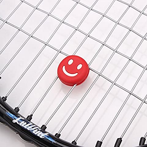 Tutoy Funny Tennis Racket Vibration Dampener Shock Absorber -Red