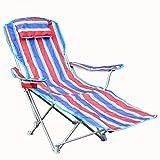 HRRH Dual-Use Klappstuhl Klapp Angeln/Camping Stuhl Outdoor Camping Stuhl Klapp Tragbare Klappstühle Nickerchen Bett Stuhl, für Wanderer, Camp, Strand, Angeln, im Freien, B