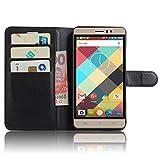 Doogee Y6 Max Smartphone Mappen Kasten iBetter Doogee Y6 Max Premium PU Leder Einschließlich rücksichtsvoller Gestaltung des magnetischen Teils Mappen Kasten für Doogee Y6 Max (Schwarz)