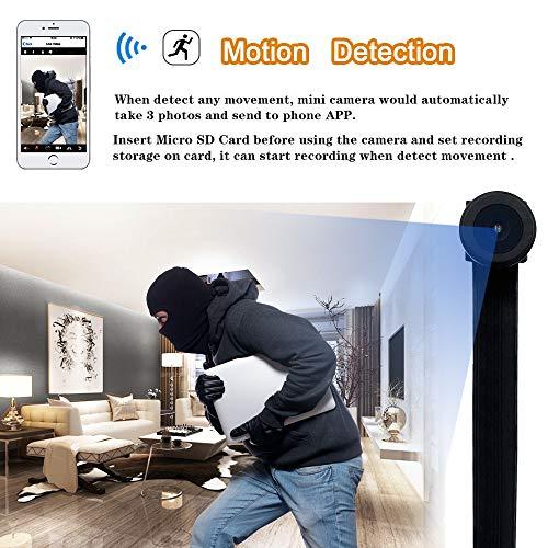 Mini WiFi Telecamera UYIKOO Hidden Spy Camera 1080P HD Telecamera Wireless Rilevazione Movimento con Angolo di visione Ampio Supporto 140 ° per Android/iPhone - 4