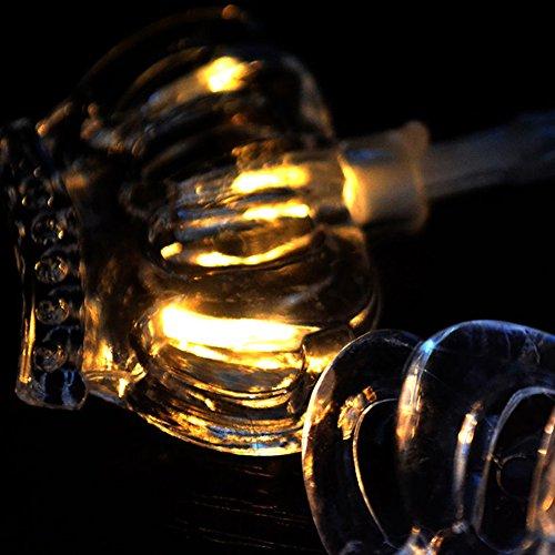 Lichterkette, 1,65 M 10 LED String Lichter Kunststoff Dreamy Kristall Krone Batterie Fairy Light Weihnachtsfeier Garten Hof Decor Warmes Weiß