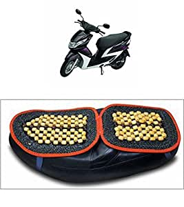 Capeshoppers Wooden Bead Seat Cover For Yamaha Ray Z Scooty