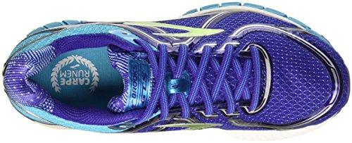 Brooks Damen Adrenaline GTS 16 Laufschuhe, Spectrum Blue/Lime Punch/Blue Atoll Violett (Spectrum Blue/Lime Punch/Blue Atoll)