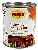 Pigrol Schwedenhauslasur 0,75L farblos Dickschichtlasur für alle Hölzer im Außenbereich