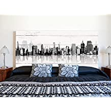 Cabecero Cama PVC Impresión Digital | Edificios con Sombra 150 x 60 cm | Cabecero Original