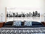Cabecero Cama PVC Impresión Digital | Edificios con Sombra 150 x 60 cm | Cabecero Original y Económico