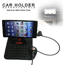 REMAX KFZ Auto & Haus Doppelzweck Silikon Handy Halterung Drehbar Dashboard Smartphone Halter mit Magnet Ladekabel Für iPhone/Samsung/Sony/LG/HTC