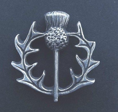 Schottland Thistle–Badge Hand aus massivem Zinn in Großbritannien
