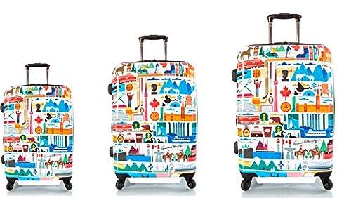 1PREMIUM DESIGNER Hardside Luggage set 3 pcs. - Heys Artist Fernando Canada Hand Luggage+ Trolley with 4 Wheels Medium + Trolley with 4 Wheels Large 470577031&Artist&47+48+49