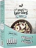 nu3 - Muesli Low Carb | 575g | Goût fraise/pomme | Müsli délicieusement croustillant | Pauvre en glucides | Riche en protéines | Faible teneur en sucre