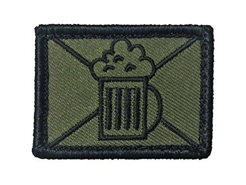 Café Viereck taktisches Bier Zeichen Truppengattungen Bundeswehr Fun Patch mit Klett Bierjäger Biernaschub Bieraufklärer Bieronier (Bierjäger)