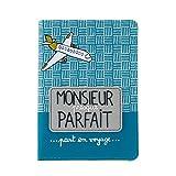 Derrière La Porte DLP : Protège Passeport MONSIEUR PARFAIT pour Homme Garçon Etui Pochette