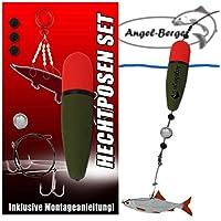 Angel-Berger Hecht Posenset Köderfischset Köderfischmontage