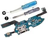 MMOBIEL Dock Connector für Samsung Galaxy S4 Mini i9195 i9190 Mikro USB Ladebuchse Charging Port Flexkabel mit Mikrofon vorinstalliert und Selbstklebender Unterseite inkl 2 x Schraubenzieher