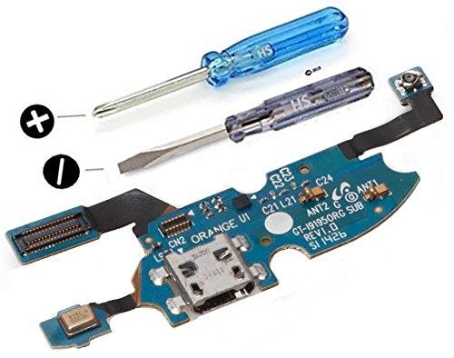 Connecteur port Micro USB/Chargeur (dock) pour Samsung Galaxy S4 mini i9195 i9190 connecteur nappe pré-installés et tournevis inclus pour installation facile - MMOBIEL