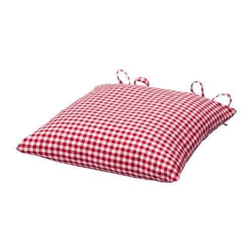 IKEA INNA Stuhlkissen in rot/weiß; (40x40x7cm)