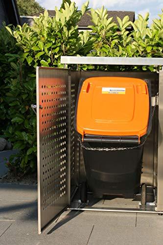 Mülltonnenbox für vier Mülltonnen 240 l - 8