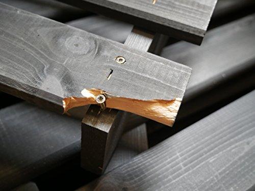 Mülltonnenbox schwarz f. 1 Tonne 120L FSC Holz Verkleidung Mülltonnenverkleidung - 4