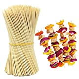#7: HOKIPO® Bamboo Skewer Stick Set, 10 inches (90-100 Sticks Approx)