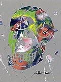 Artland Qualitätsbilder I Glasbilder Deko Glas Bilder 60 x 80 cm Menschen Anatomie Körperteil Spachteltechnik Bunt D0HZ Totenkopf