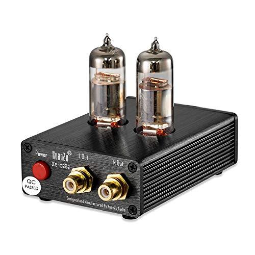DollaTek Vakuumröhren-Plattenspieler MM Phono-Vorverstärker HiFi-Stereo-Phonograph-Vorverstärker, Phono Stage Mini-Vorverstärker für Plattenspieler