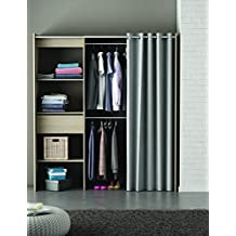 demeyere chicago kit placard extensible avec rideau panneau particule chne bross x with fermer. Black Bedroom Furniture Sets. Home Design Ideas
