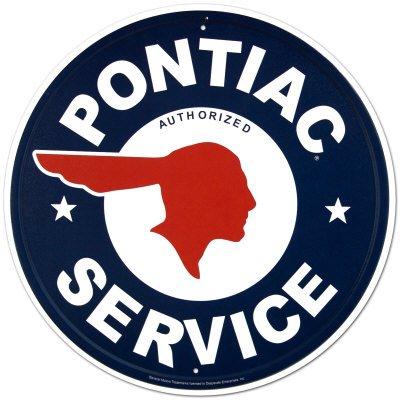 cartel-de-chapa-logotipo-de-centro-autorizado-pontiac-tamano-30-x-30-cm