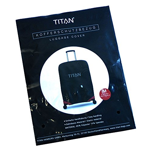 TITAN Luggage Cover UNIVERSAL - aus elastischem Spandex Polyester für 4-Rad Trolleys M+, 71 cm, Black