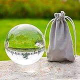GWLTV Crystal Ball-K9 Klarglas-Kugel für Meditation & Healing Fotografie Props