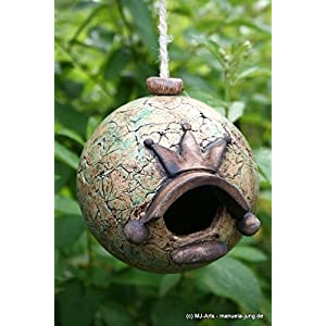 Keramik Nistkugel für Zaunkönig